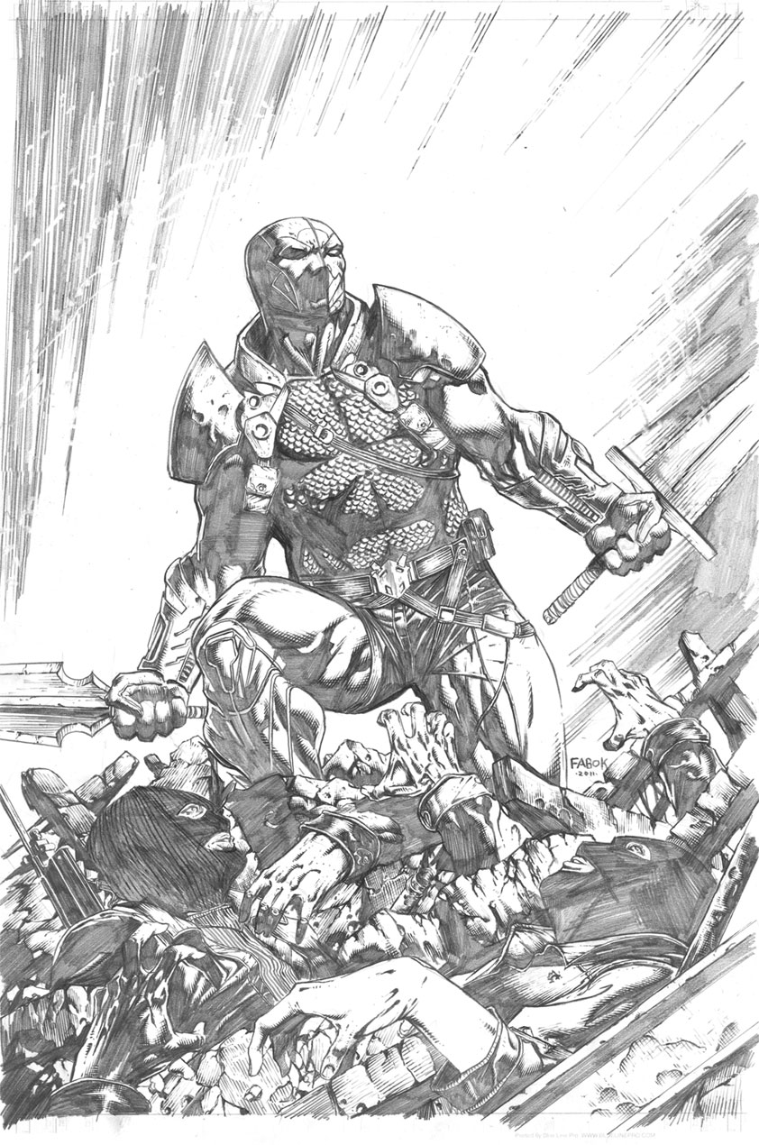 Deathstroke 8 cover pencils by jayfabs on deviantart for Deathstroke coloring pages