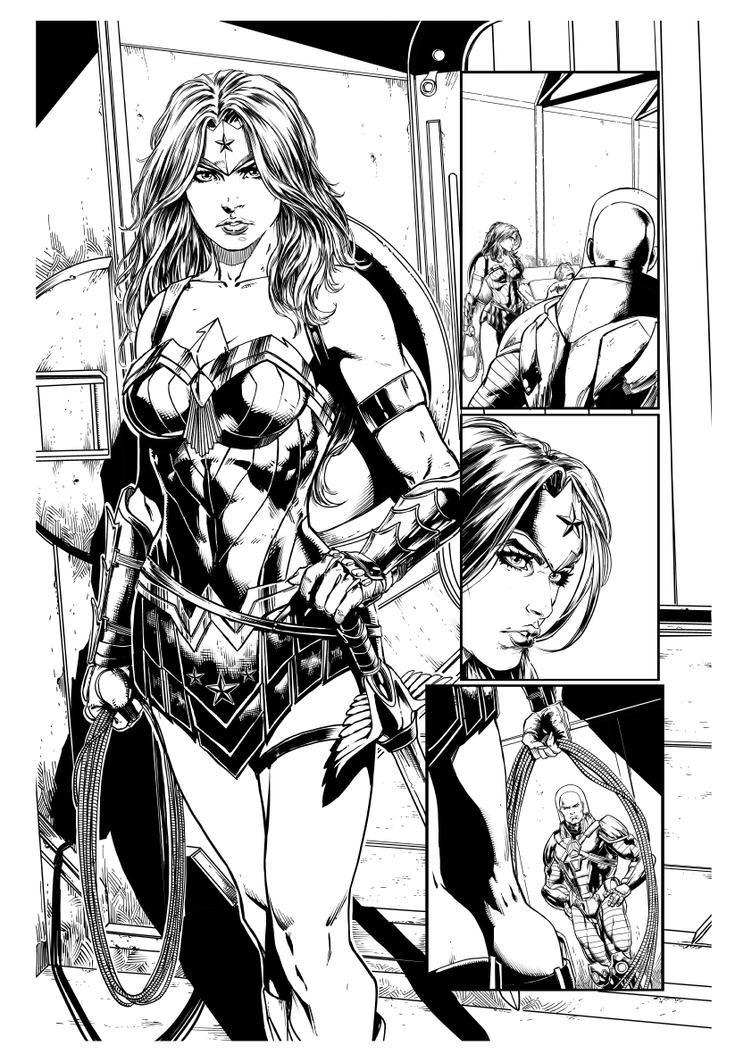 JusticeLeague36pg14 Wonder Woman new look by jayfabs