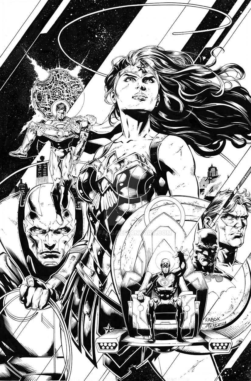 The Women Of Dc Comics Ink In Adam Withers S Dc Comics: Justice League 42 Cover By Jayfabs On DeviantArt