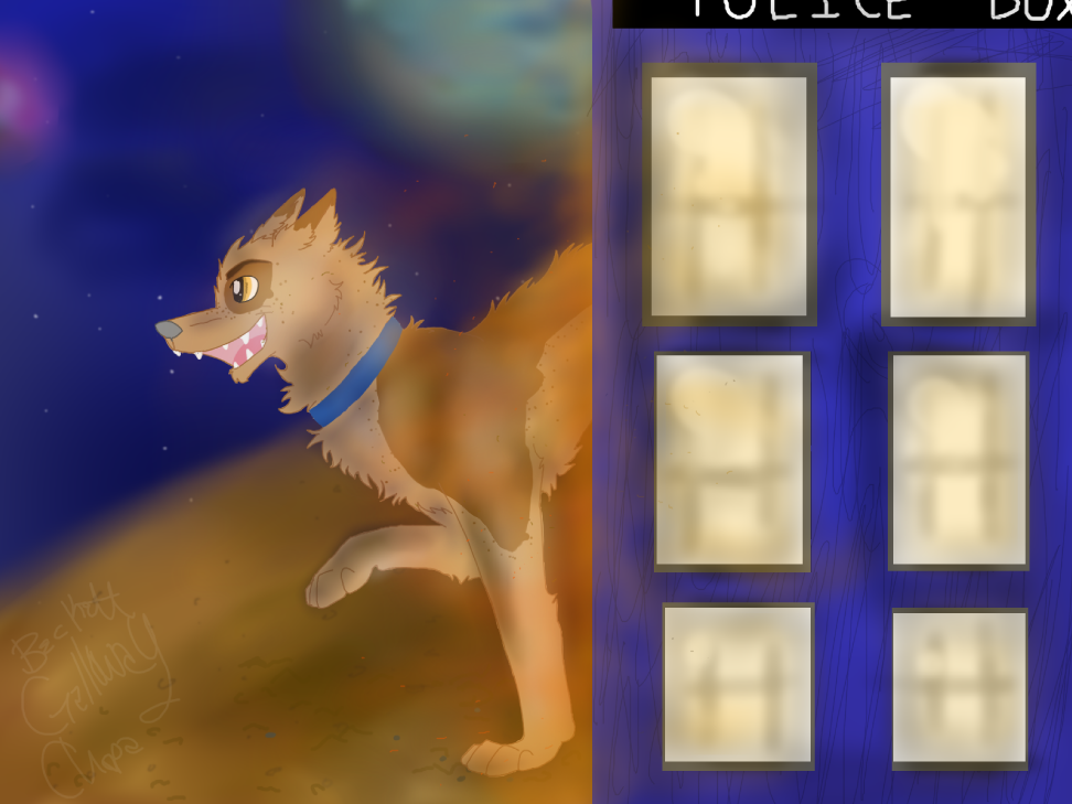 Dogtor and the TARDIS by ArtfulDodger112