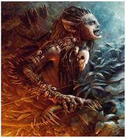 Goblin Eagle Hunter by mikenashillustration
