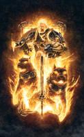 Balthazar - God of War, Fire and Challenge by mikenashillustration