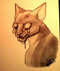 Marker doodle - cat