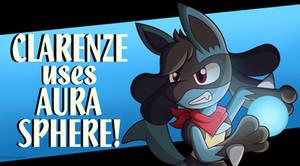 Clarenze uses Aura Sphere! (Smash-styled)