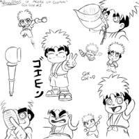 Goe-Goe 1 A page of Goemon by geruru