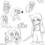Goe Goe 3 Yae drawings