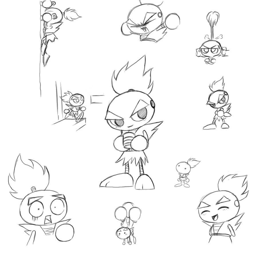 Goe Goe 4 Sasuke scribbles by geruru