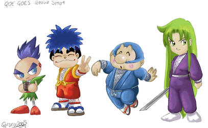 Goe Goe 5 Group in colour by geruru