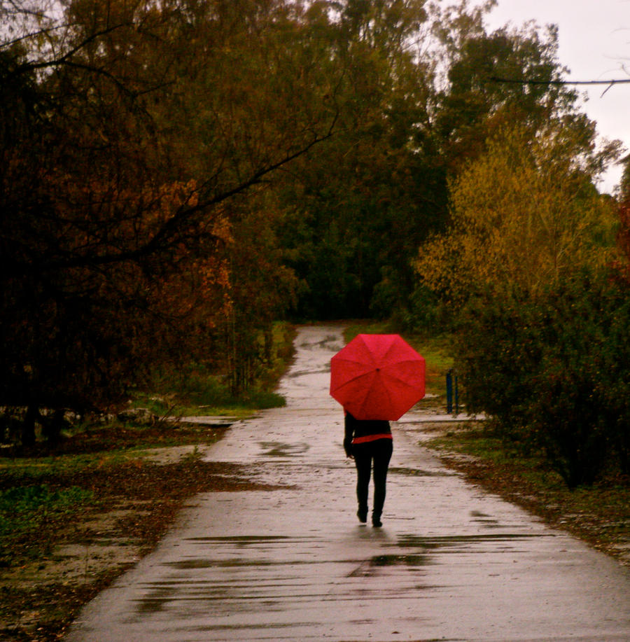 Red Umbrella By MrsAnnie137