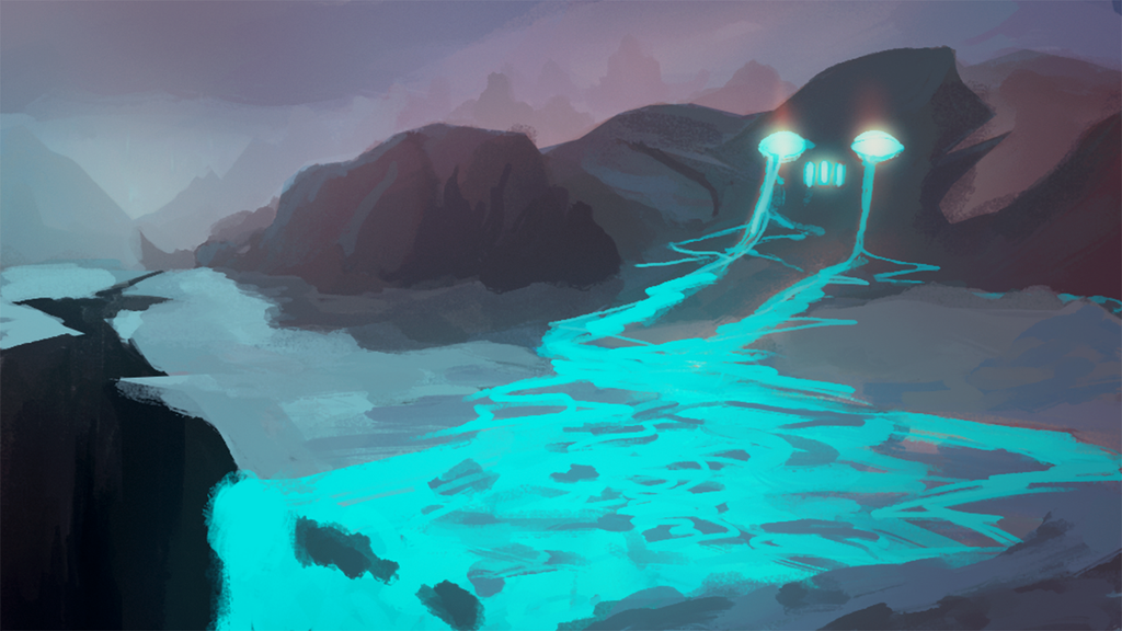 Blue Energy Skull by MFFchaos