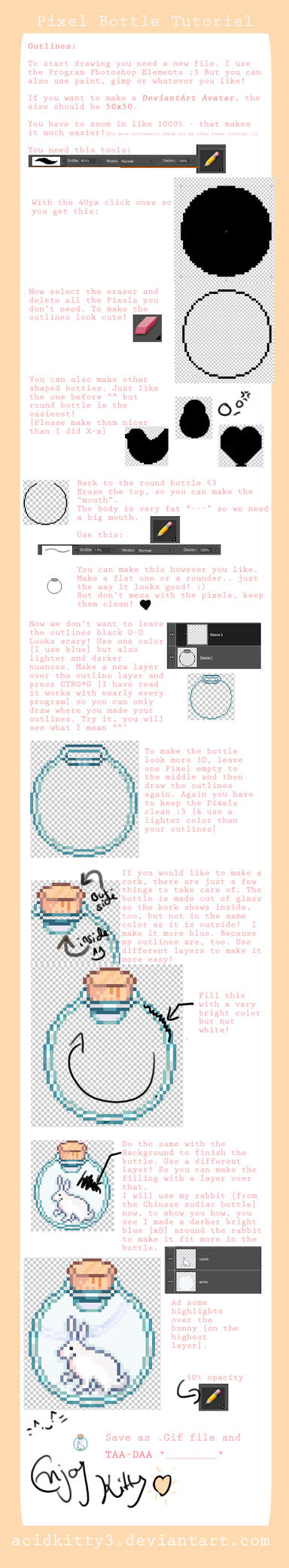 Pixel Bottle Tutorial by CitricLily