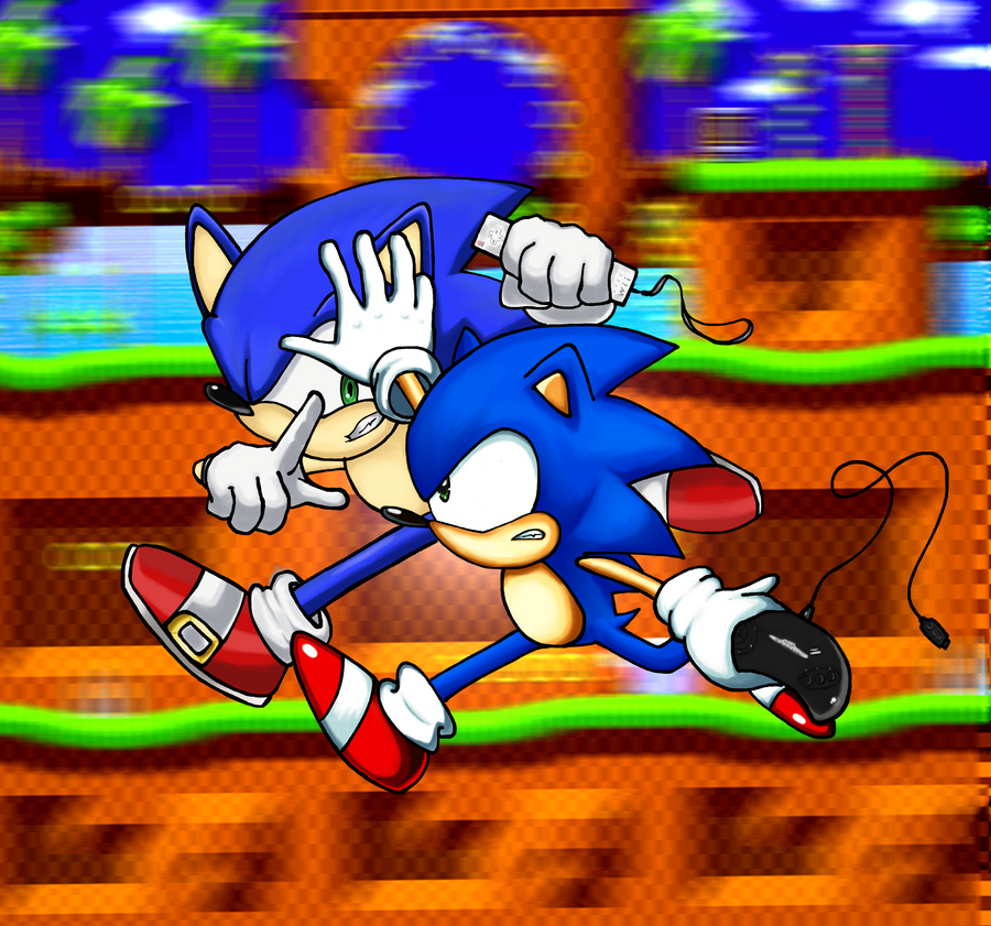 Classic Sonic Vs Modern Sonic By Trueretrosonic On Deviantart