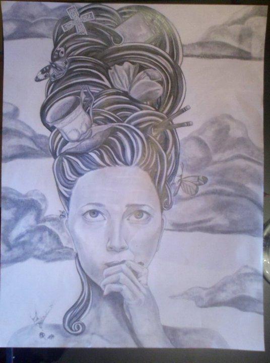 Self portrait by hannahhoneyy