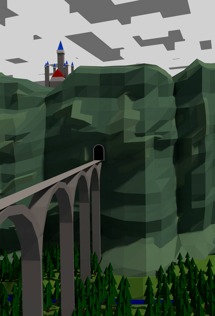 Castle on the Cliff by CzarSquid