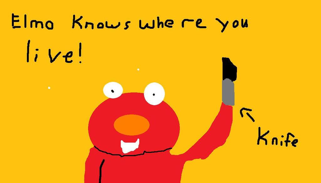 Scary Elmo By Roxi220 On Deviantart