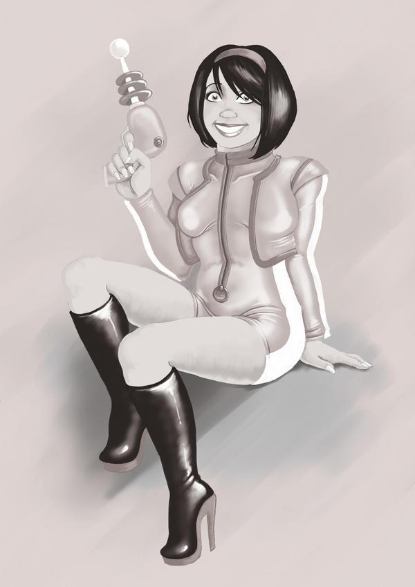 Space Girl by DarkJimbo