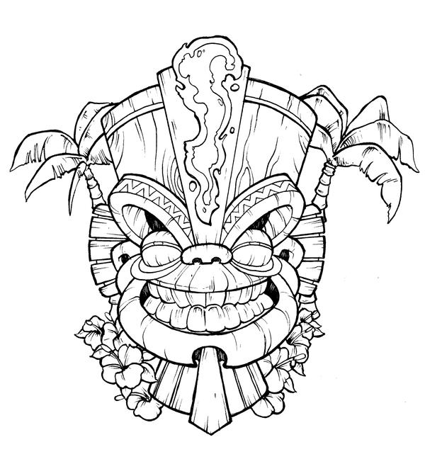 Tiki mask by DarkJimbo on DeviantArt