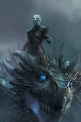 Night King and Viserion by MichaelCTY