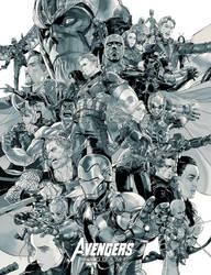 Avenger end-game grey version