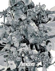 Avenger end-game grey version 2