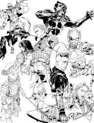 Avenger end-game fanart progress