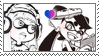 Callie x Headphones Stamp by MsHoshi