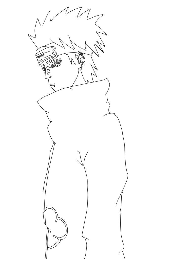 Naruto Pain Lineart - Free by TAyukii