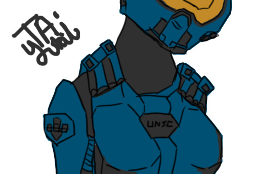 Spartan ODST doodle by TAyukii