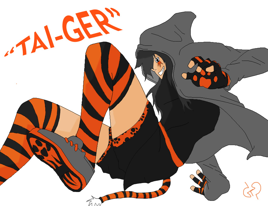 New Tai-Ger OC by TAyukii
