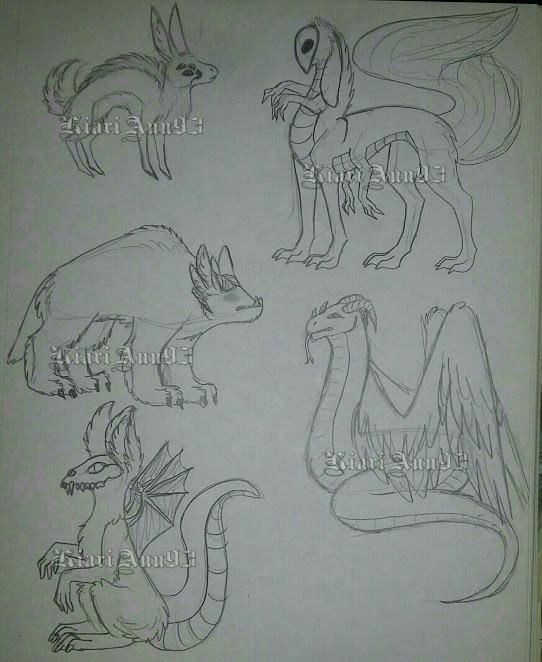(A) Sketch Creatures OTA - OPEN by KiariAnn93
