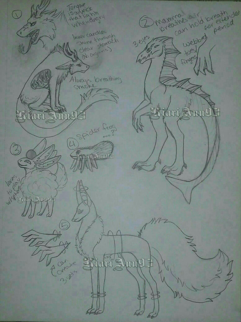 (A) Sketch Creatures OTA Batch 3 - OPEN by KiariAnn93