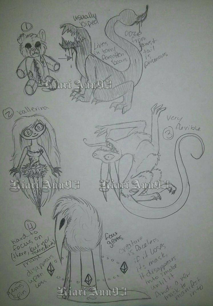 (A) Sketch Creatures OTA Batch 4 - OPEN by KiariAnn93