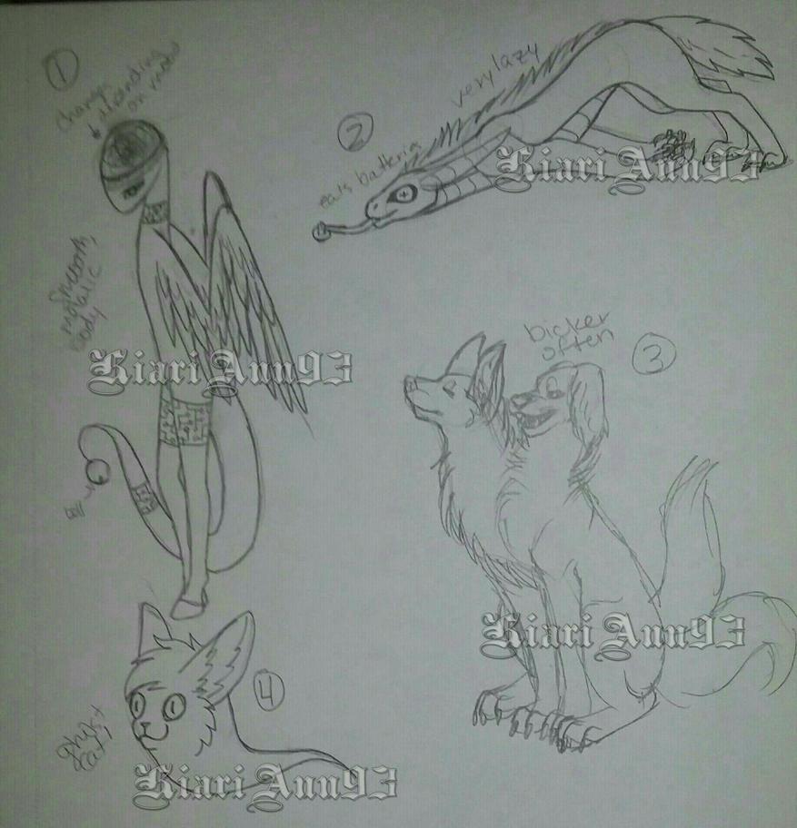 (A) Sketch Creatures OTA Batch 5 - OPEN by KiariAnn93