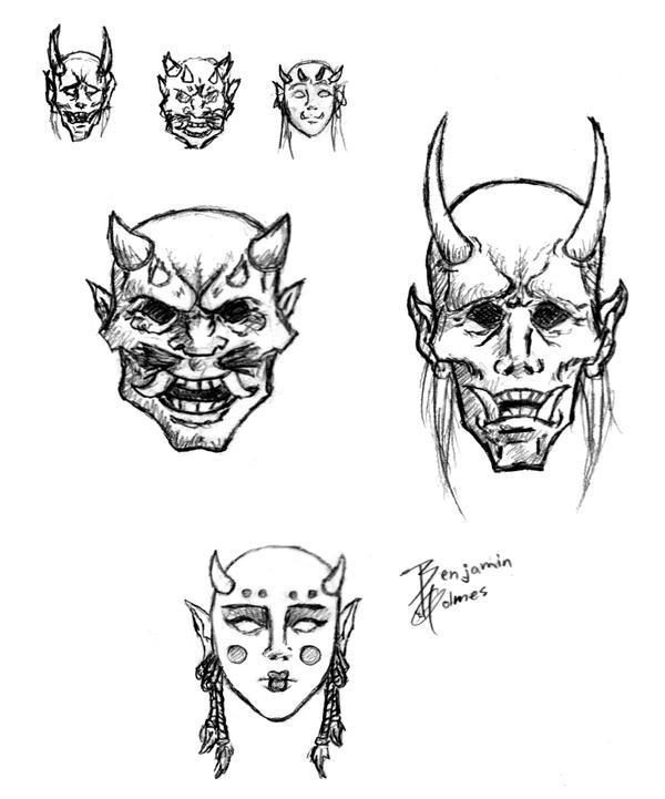 next project kabuki mask idea by gorillaeye on deviantart. Black Bedroom Furniture Sets. Home Design Ideas