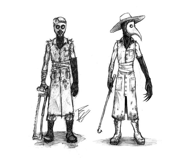 modern plague-doctor costume by GorillaEye