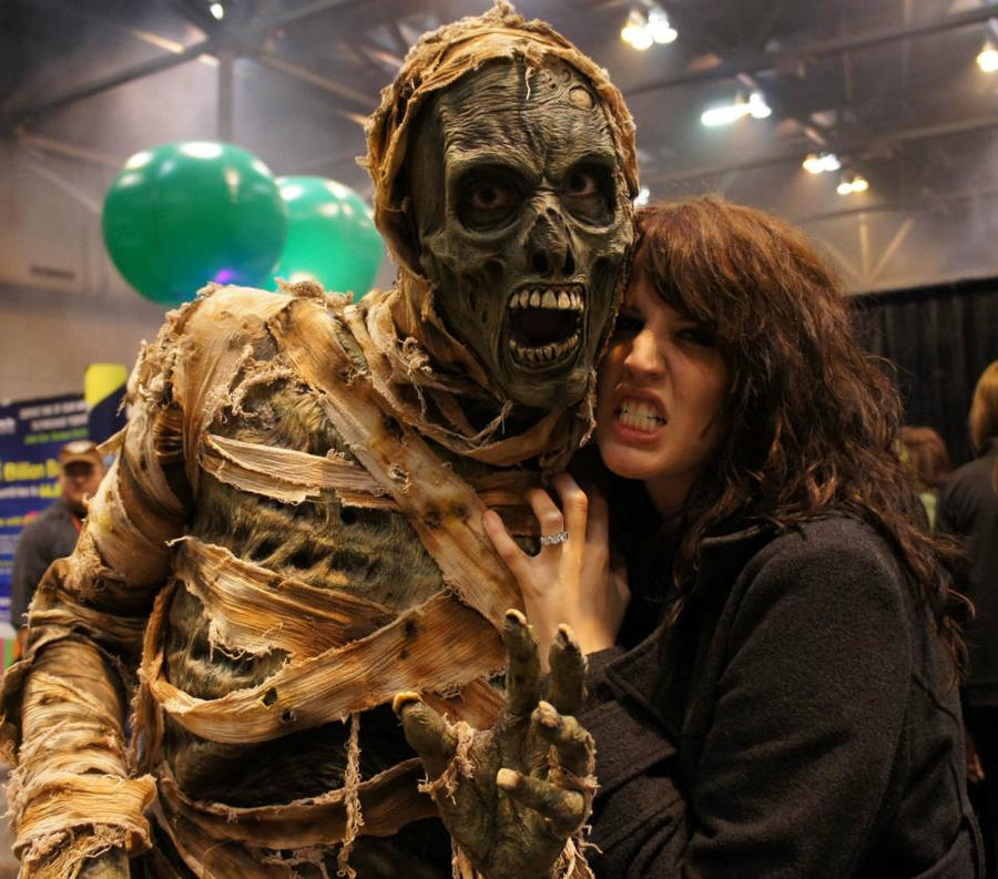 Mummy Costume at Transworld Halloween Tradeshow 3 by GorillaEye ... & Mummy Costume at Transworld Halloween Tradeshow 3 by GorillaEye on ...