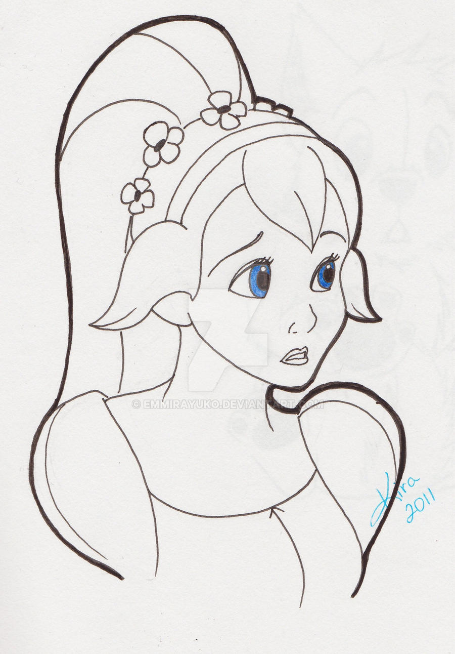 thumbelina coloring page - thumbelina sketch page by emmirayuko on deviantart