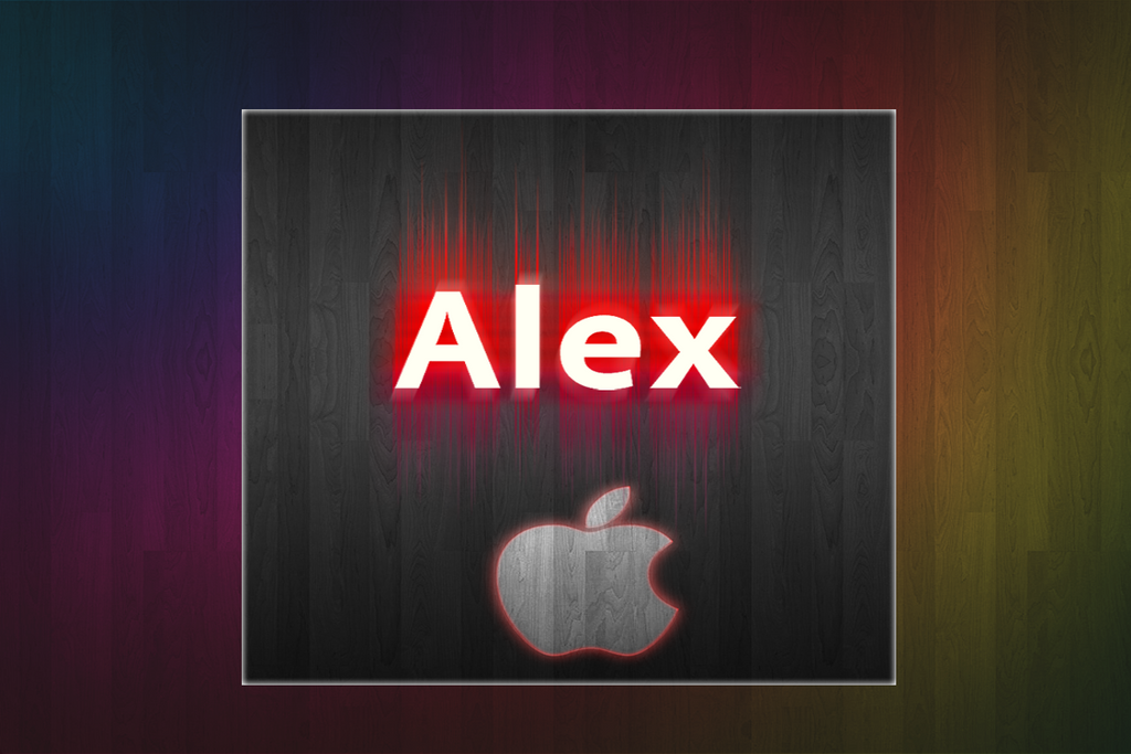 Rainbow wallpaper - Apple Logo by alexosh1234 on deviantART