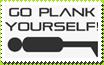 Go Plank Yourself Stamp by BLUEamnesiac
