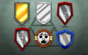 Evolution of Link's Mirror Shield Wallpaper by BLUEamnesiac