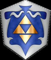Zelda 64 beta Shield by BLUEamnesiac