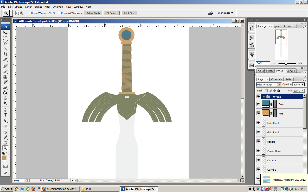 LA Ultimate Sword WIP