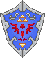 OOT Hylian Shield [Pixel Art] by BLUEamnesiac