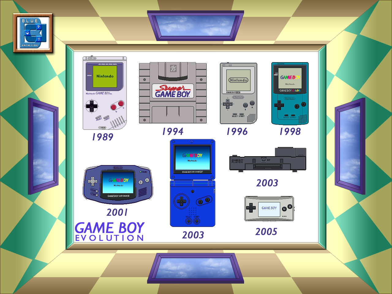 Gameboy color palettes - Game Boy Evolution 1989 2005 By Blueamnesiac