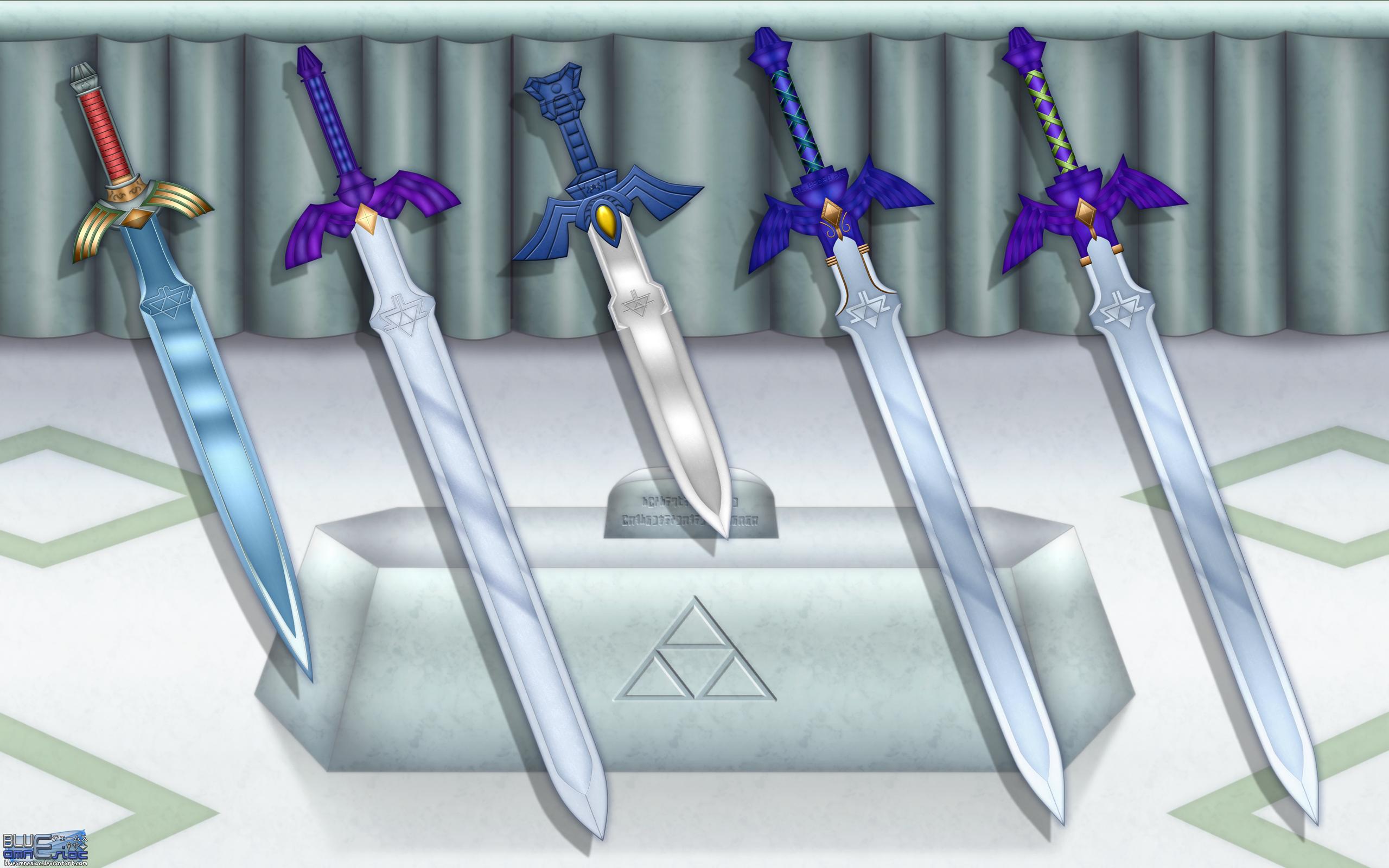 Evolution Of The Master Sword Wallpaper By BLUEamnesiac