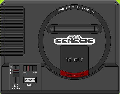 Sega Genesis by BLUEamnesiac