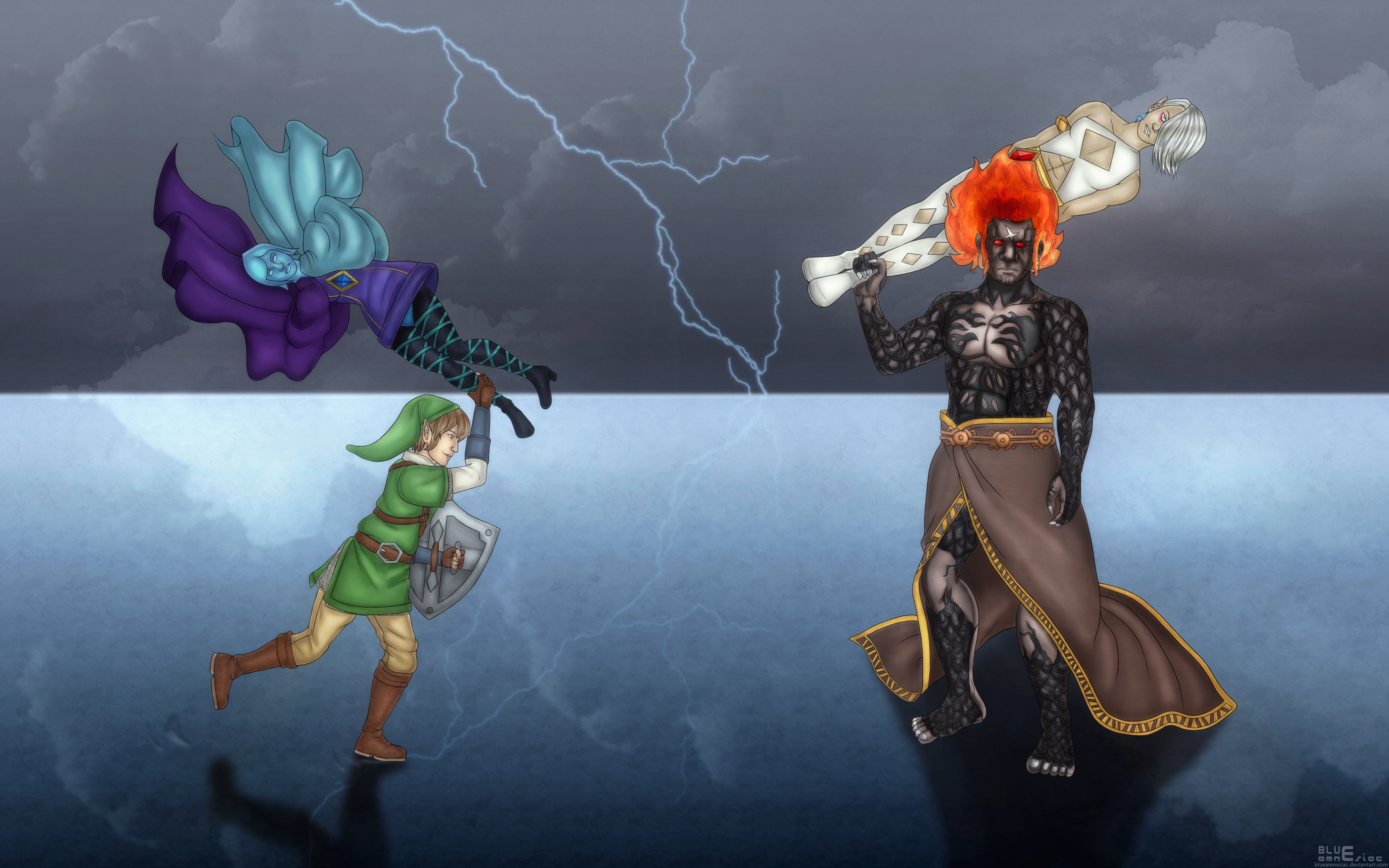 Skyward Sword Clash by BLUEamnesiac