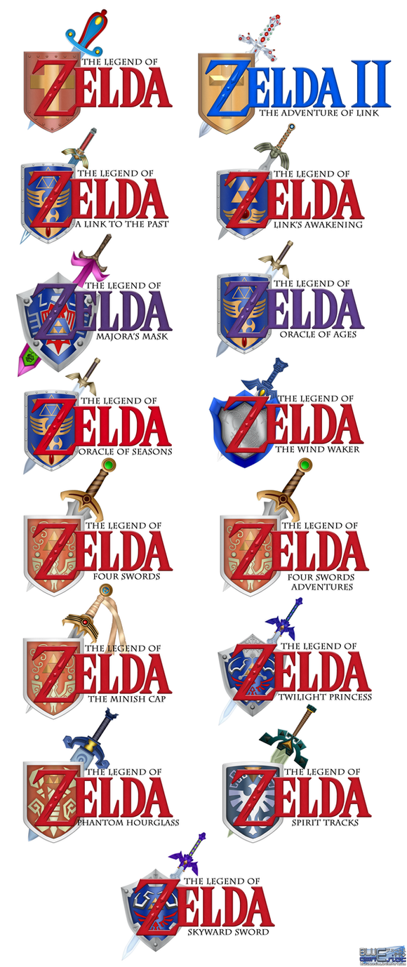 Ocarina of Time styled Zelda titles by BLUEamnesiac