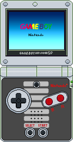 Game Boy Advance SP (Classic NES) by BLUEamnesiac