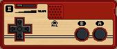 Famicom Controller II by BLUEamnesiac